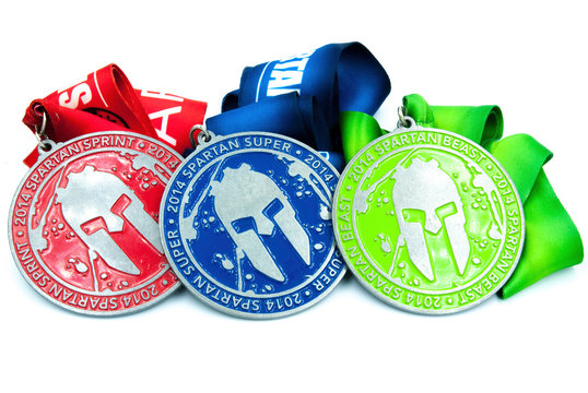 All spartan race medals - sprint super and beast