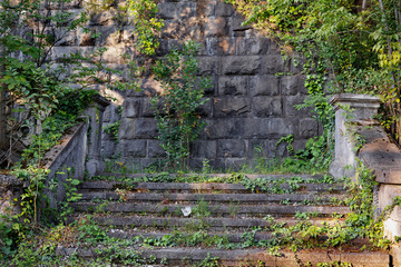 old abandoned stairs in abkhazia