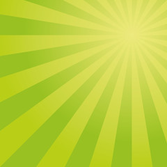 Sunburst vector pattern with green color palette.