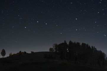 Serene starry night Fototapete