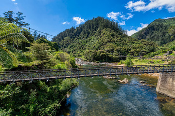 Suspension bridge in the Karangahake Gorge