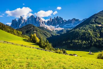 Dolomites, picturesque Val di Funes