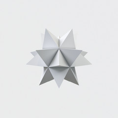 abstract paper monochrome origami star