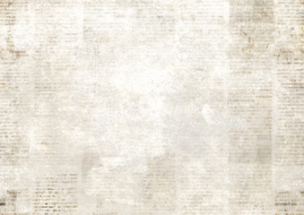 Foto op Canvas Retro Newspaper with old grunge vintage unreadable paper texture background