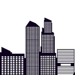 buildings cityscape scene isolated icon