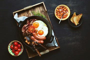 English breakfast, view from above