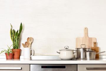 Kitchen utensils background