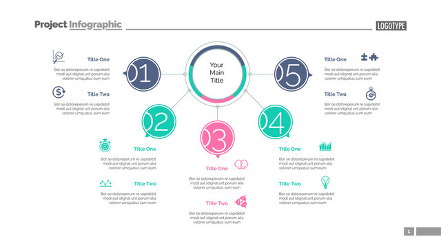 Five Points Workflow Slide Template