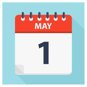 May 1 - Calendar Icon - Calendar design template