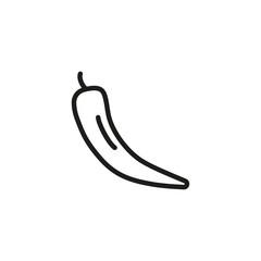 Chili line icon