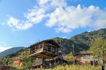 old village houses in the forest.artvin /macahel