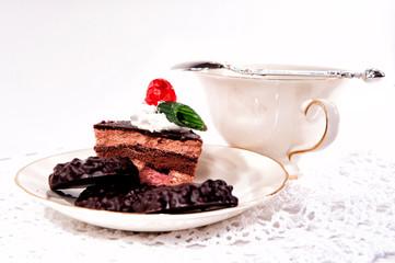 kawa ciastko filiżanka