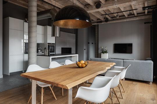 Industrial home interior