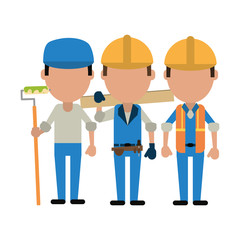 Construction workers avatars
