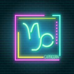 Garden Poster Retro sign capricorn neon sign