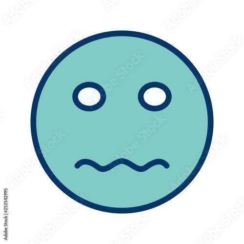 Illustration Nervous Emoji Icon