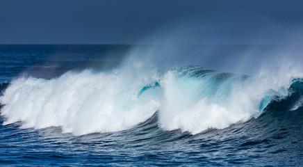 Waves and ocean, La Santa, Lanzarote Island, Unesco Biosphere Reserve, Canary Islands, Spain, Europe
