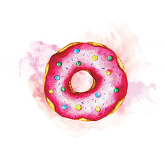 illustration with donut