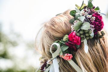 Obraz Piękny wianek Panny Młodej - fototapety do salonu