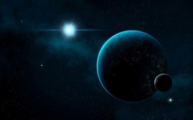 deep space of galaxy universe