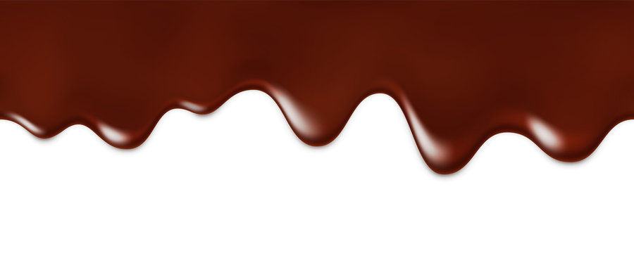 Seamless pattern of melted chocolate dripping .