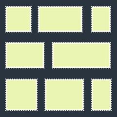 Blank postage stamp vector vector design illustration