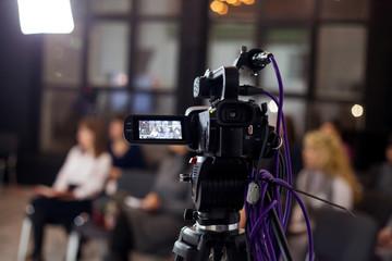 Digital video camera at conference