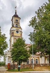 Lutheran church in Aluksne, Latvia