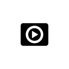 Play button icon. Video player sign