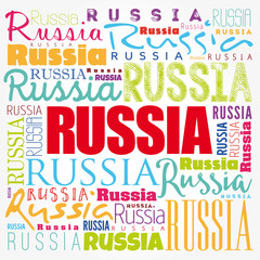 Russia wallpaper word cloud, travel concept background