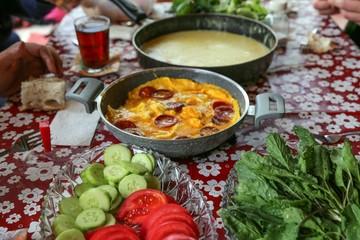 traditional turkish breakfast.