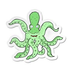 sticker of a cartoon giant octopus