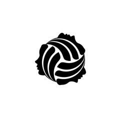 Volleyball symbol faces