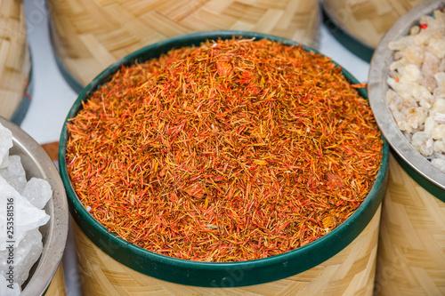Saffron - Indian spice in Dubai market