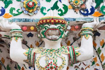 Mythological Monkey Statue at Wat Arun