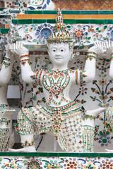 Caryatid supporting a Prang at Wat Arun