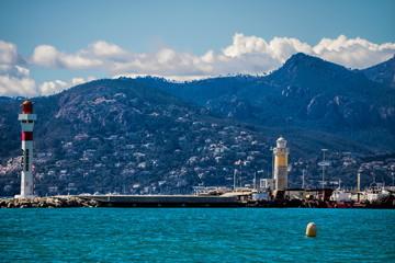 Leuchttürme in Cannes, Frankreich