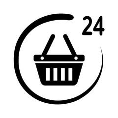 Obraz sklep czałodobowy ikona - fototapety do salonu