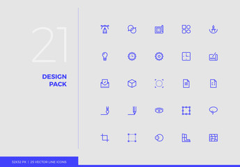 Vector Line Icons Design Pack