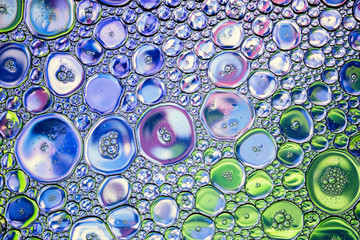 Beautiful background of colored  bubbles.
