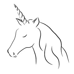 cute unicorn animal illustration
