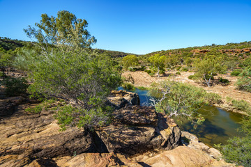 murchison river from ross graham lookout, kalbarri national park, western australia 9