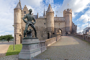 Canvas Prints Antwerp Steen Castle