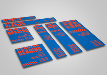 Web Banner Layouts with Blue and Orange Accents