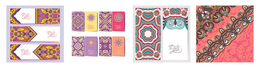 decorative label card for vintage design, indian ethnic kalamkari style