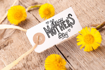 White Label, Dandelion, Calligraphy Happy Mothers Day