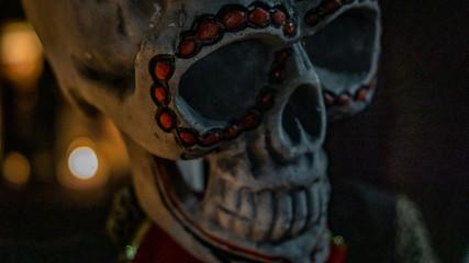 Dia de los Muertos, Day of the Dead skulls