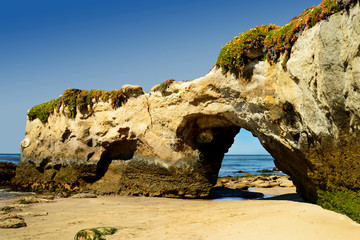 Lighthouse Field State Beach Arch. The beach is located in Santa Cruz, California next to the Santa Cruz Lighthouse