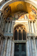 Italy, Venice, St Mark's Basilica, LOW ANGLE VIEW OF ORNATE BUILDING