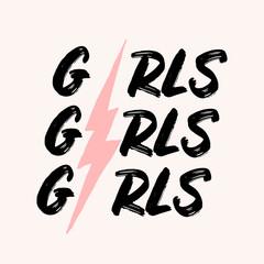 Girls Girls Girls Typographic Design